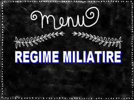 Régime militaire avis